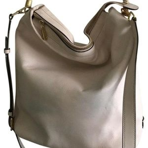 COLE HAAN Extra Large White Leather Tote